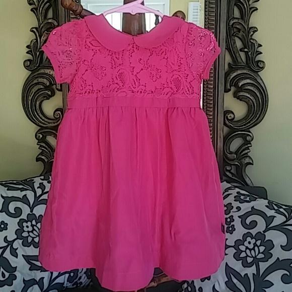 220 Dkny Pink Lace Girls Dress Size 24 Months